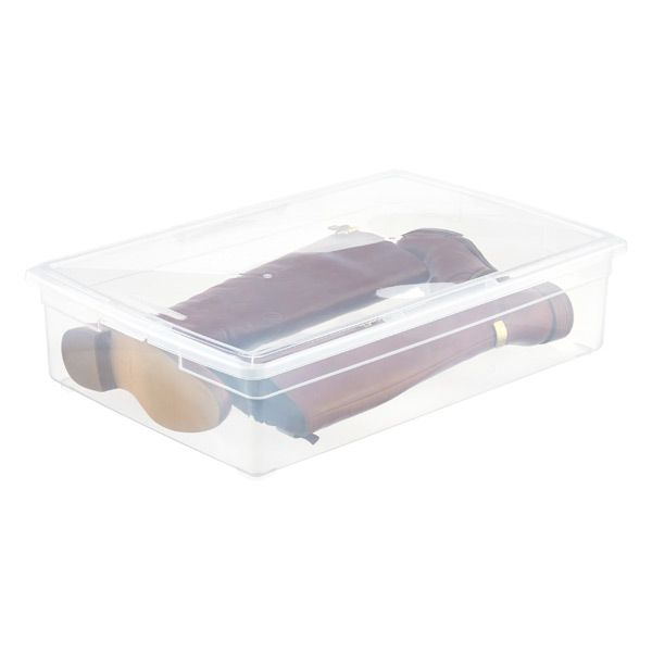 Boot storage · Our Clear Storage Box ...  sc 1 st  Pinterest & Our Boot Box | Box Container store and Organizing
