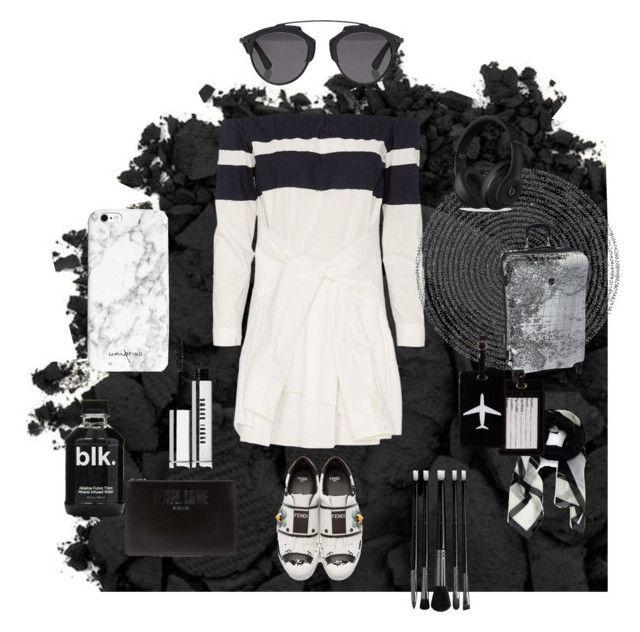 """""""Airplane outfit ✈️"""" by bliksem-donder ❤ liked on Polyvore featuring Urban Decay, 10 Crosby Derek Lam, Christian Dior, Givenchy, Fendi, Beats by Dr. Dre, Illamasqua, Bobbi Brown Cosmetics, TravelSmith and Heys"""