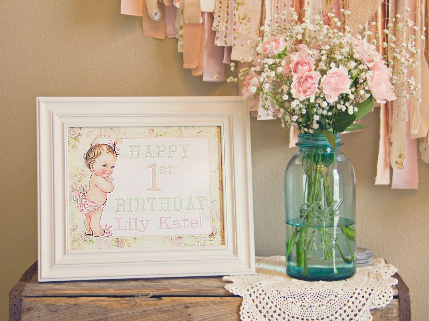 PERSONALIZED CUSTOM 8x10 Welcome Greeting Sign Shabby Chic