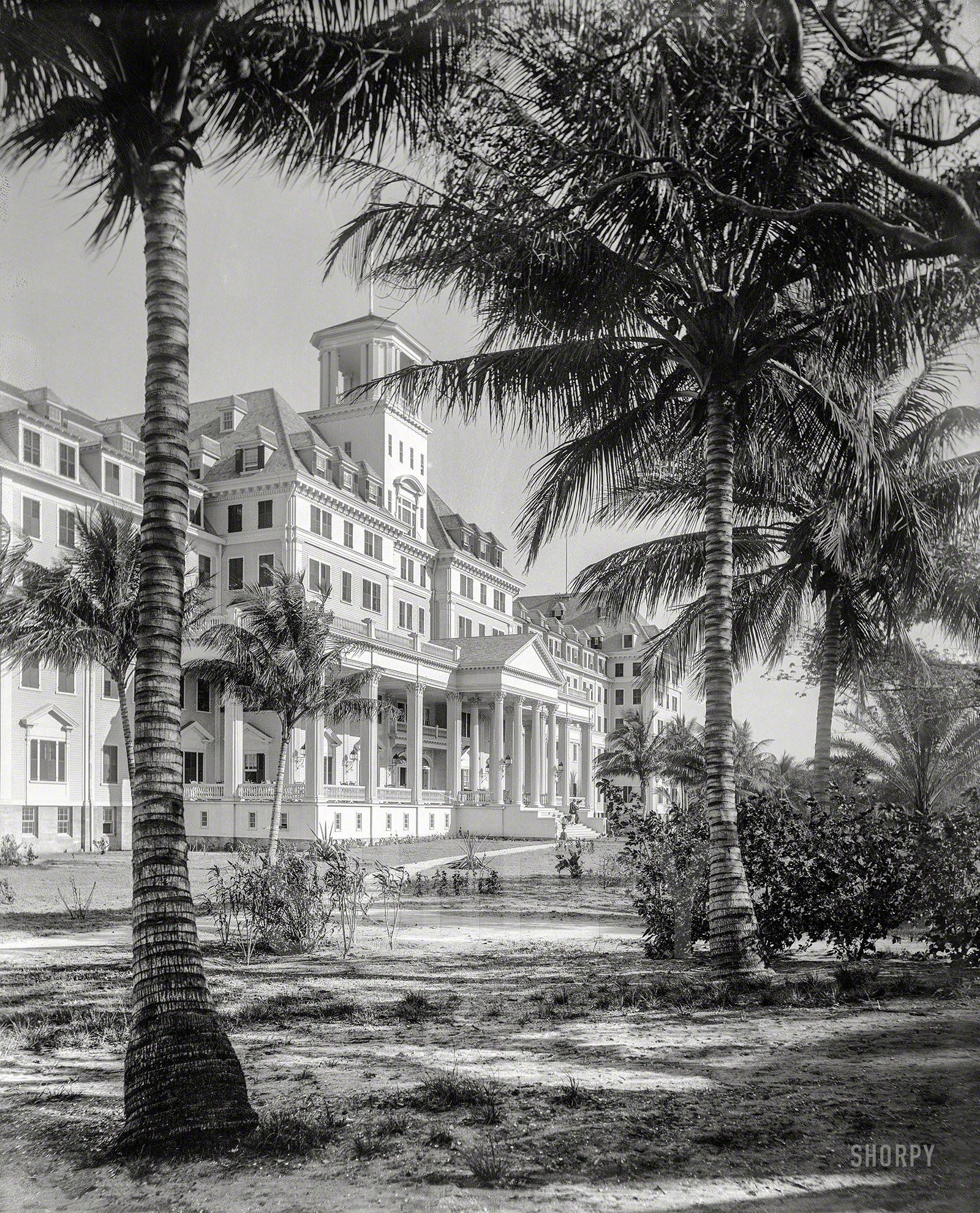 Framed Vintage Photograph Of Florida Circa Hotel Royal Poinciana Palm Beach