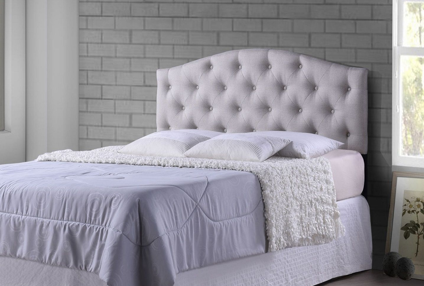 Diy fabric headboard with buttons ideas upholstered