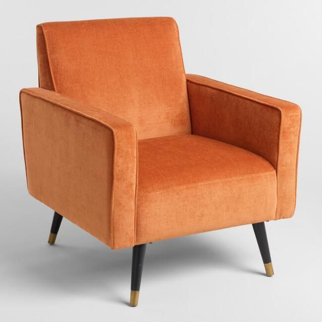 Rust Orange Reide Armchair Living Room Orange Armchair Black