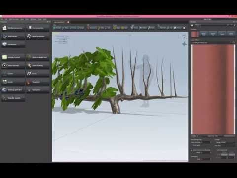 Making vine plant in Speed Tree - The Vineyard / Unreal Engine