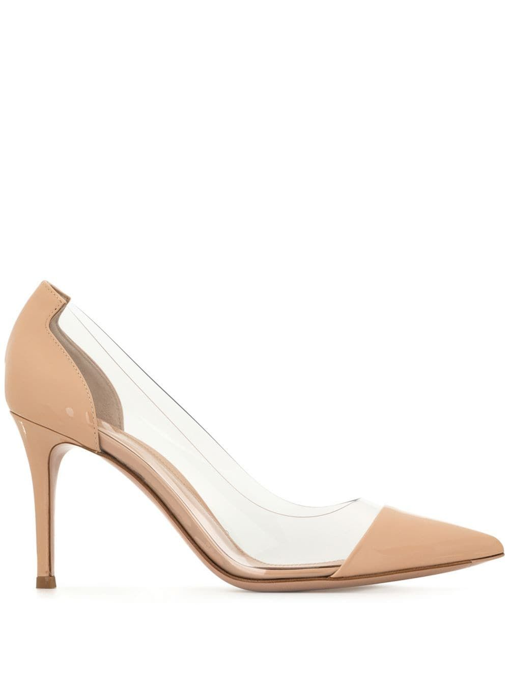 Gianvito Rossi Pointed Clear Pumps Farfetch In 2020 Stiletto Heels Butterfly Shoes Pumps