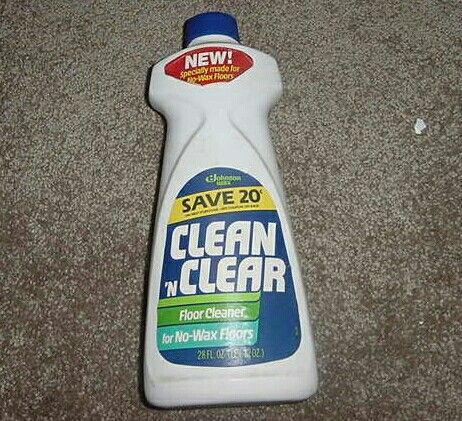 Clean N Clear Cleaner For No Wax Floors 1982 Cleaning Vintage