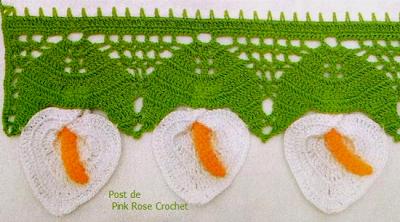 \ PINK ROSE CROCHET /: Barrado Copo de Leite em Crochê