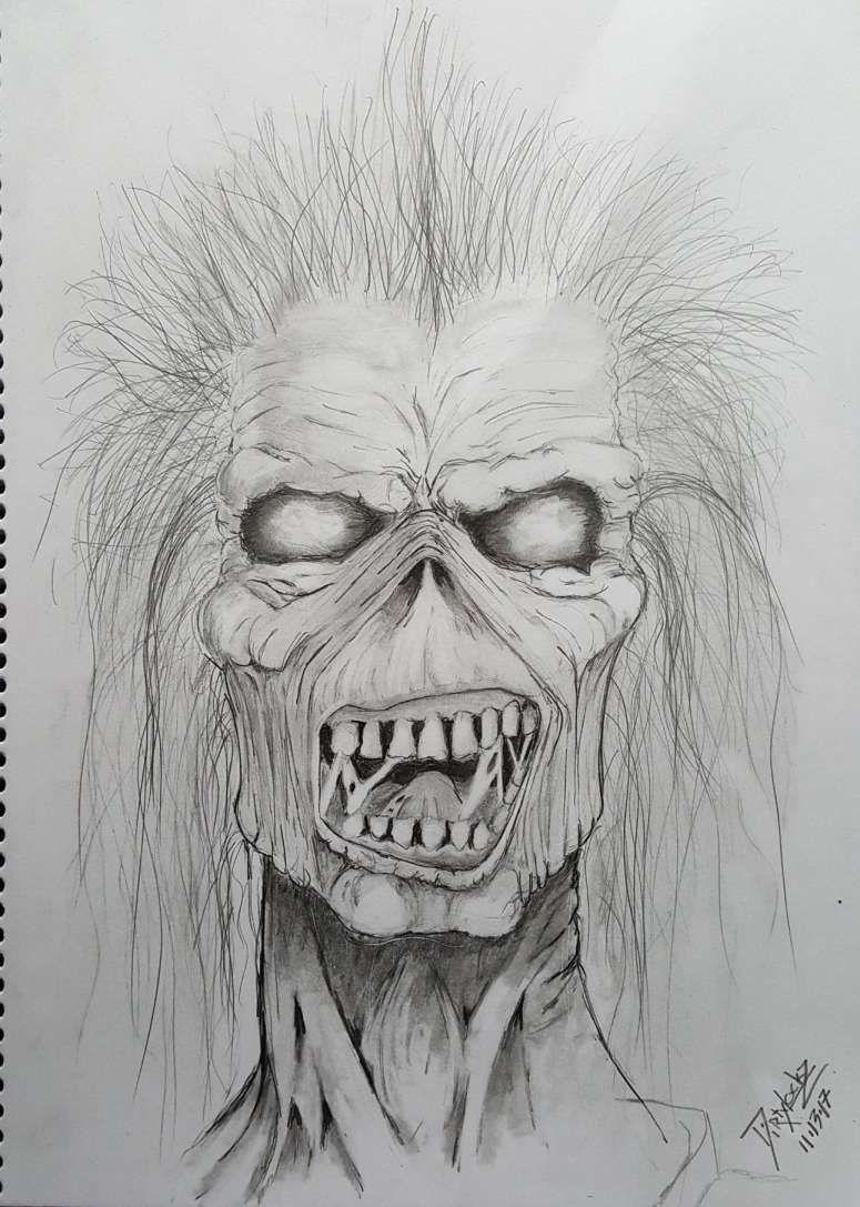 10 Iron Maiden Eddie Drawings Dibujos Arte Arte Oscuro