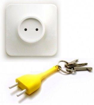 plug the keys, never to lose them again
