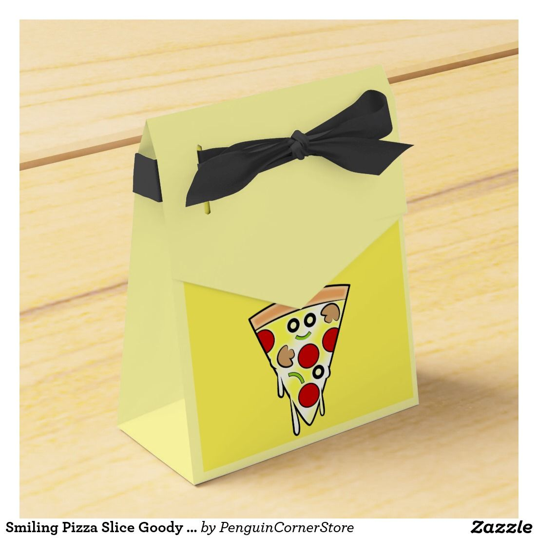 Smiling Pizza Slice Goody Box Party Favor Boxes