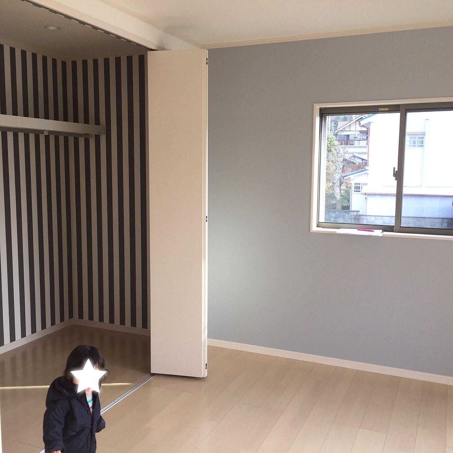 壁 天井 サンゲツ壁紙 ストライプの壁紙 アクセントクロス 寝室の壁
