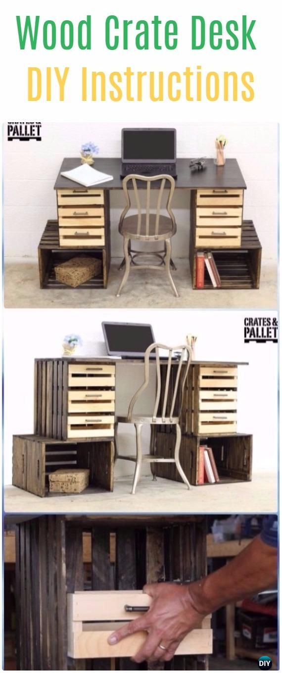 Diy Wood Crate Furniture Ideas Projects Instructions Wood Crate