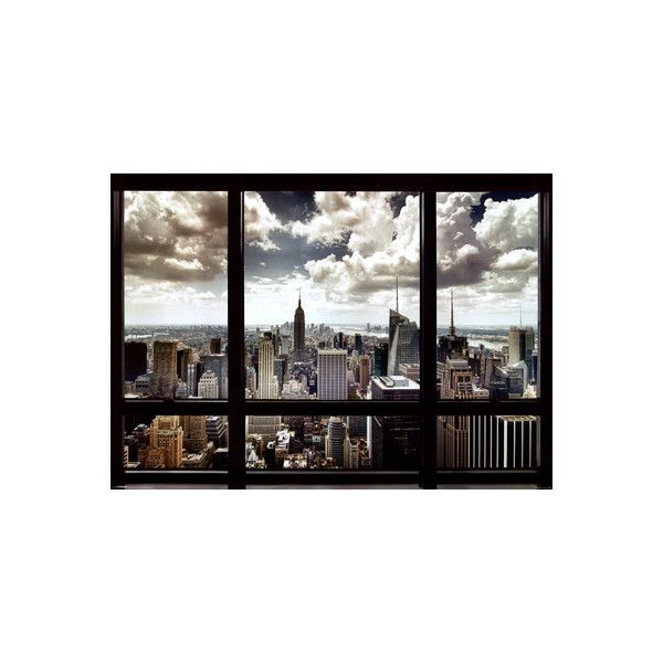 New York City Window Giant Poster (245 MXN) ❤ liked on Polyvore ...