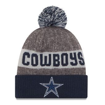 fb783791 New Era Dallas Cowboys Heather Gray Sideline Official Sport Knit Hat ...