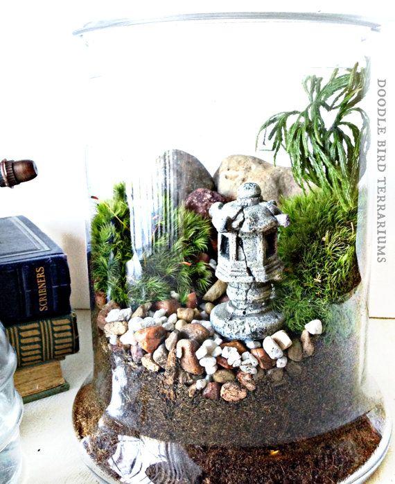 Elegant SALE Japanese Garden Terrarium With Miniature Path By DoodleBirdie