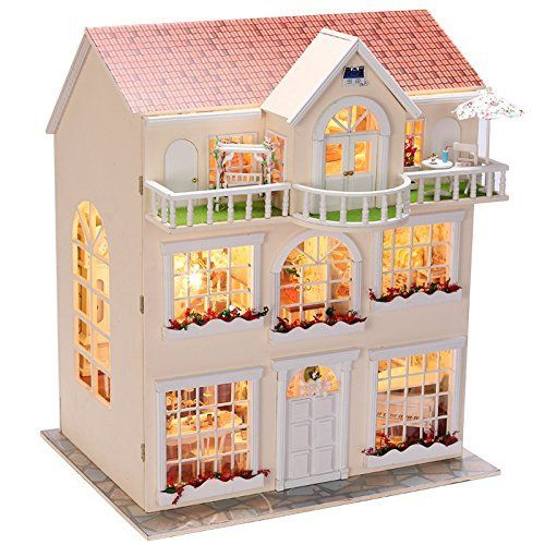 Rylai Wooden Handmade 1/24 Scale Dollhouse Miniature DIY