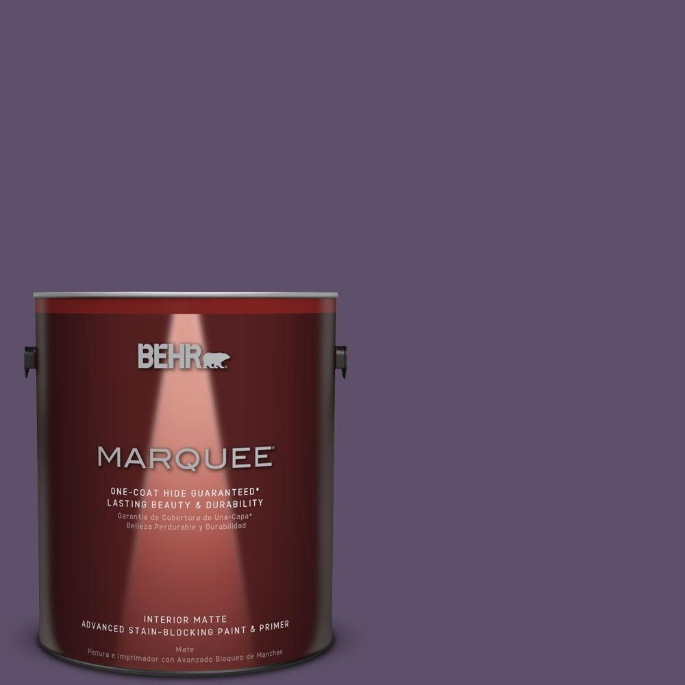 BEHR MARQUEE 1 gal. #M560-7 Muscat Grape One-Coat Hide Matte Interior Paint