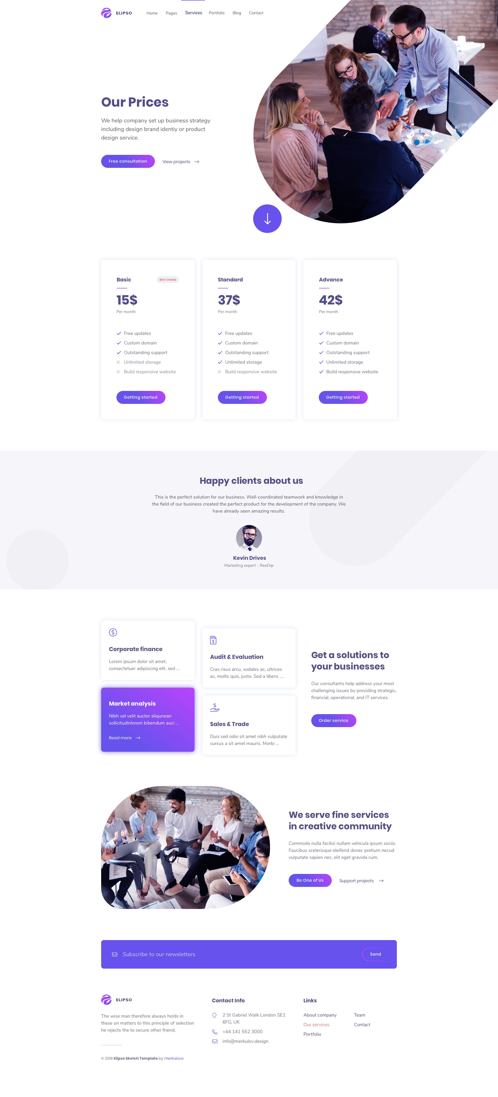 Elipso C Agency Photoshop Template Ad Agency Elipso Template Photoshop Photoshop Template Digital Agencies Templates