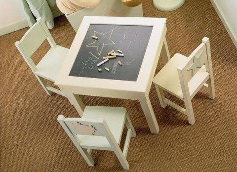 Mesas de juego para ni os kids rooms playrooms and room - Mesas madera ninos ...