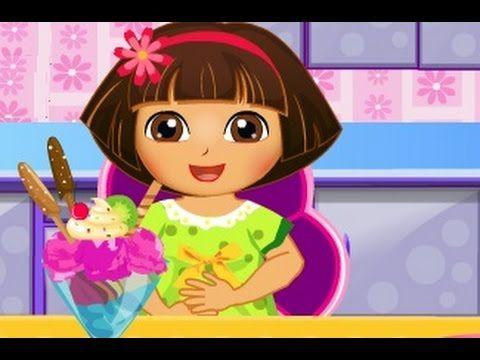 دورا الطباخة طبخ ايس كريم دورا العاب كرتون للاطفال كاملة Cartoon Disney Princess Disney
