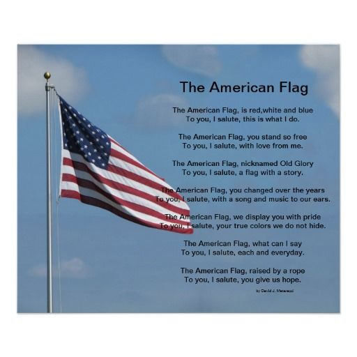 The American Flag Poem Poster Zazzle Com American Flag Quote American Flag Meaning American Flag