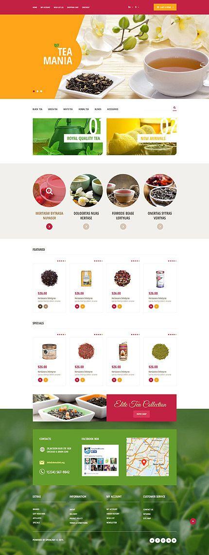 Worldwide Tea Online Store #OpenCart #webtemplate #themes #business #responsive #template