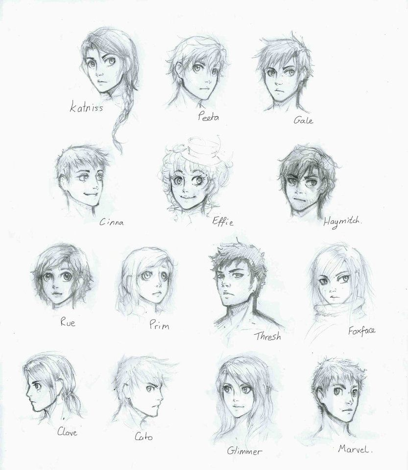 Hunger games coloring pages online - The Hunger Games Drawing Of The Cast Good But They All Kinda