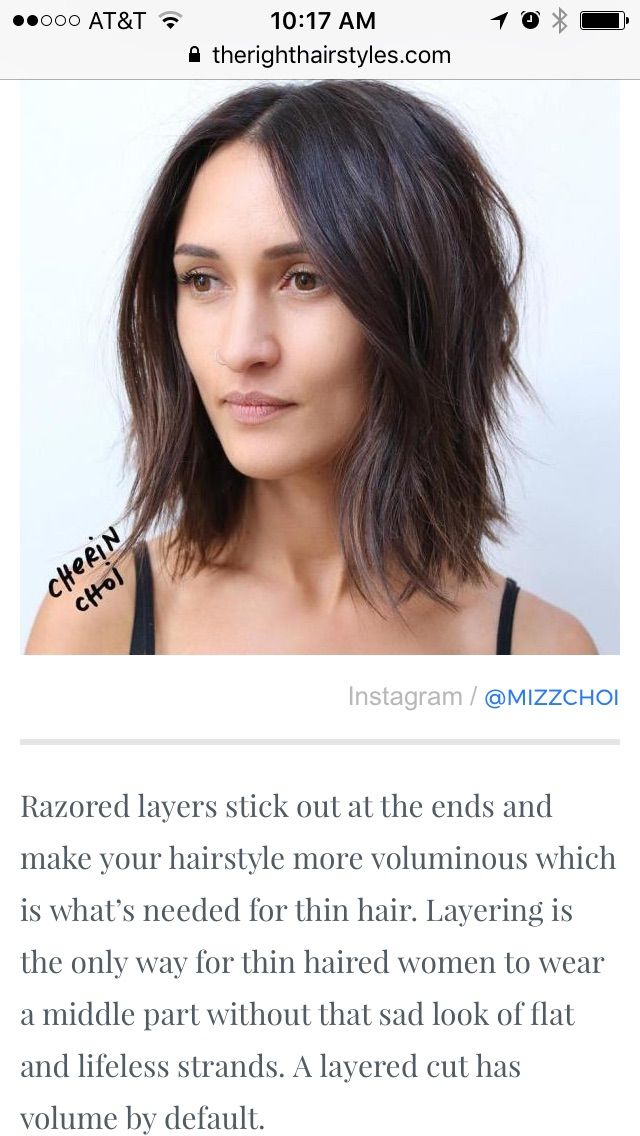 Pin By Danielle Veith On I Need A Haircut Hairstyles For Thin Hair Hair Hairstyle