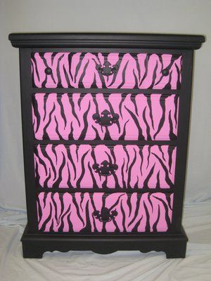 chest black and hot pink zebra