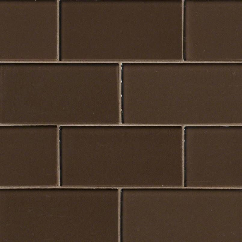 Smot Gl T Cg36 Cinnamon Subway Tile 3x6 Brown Mosaic