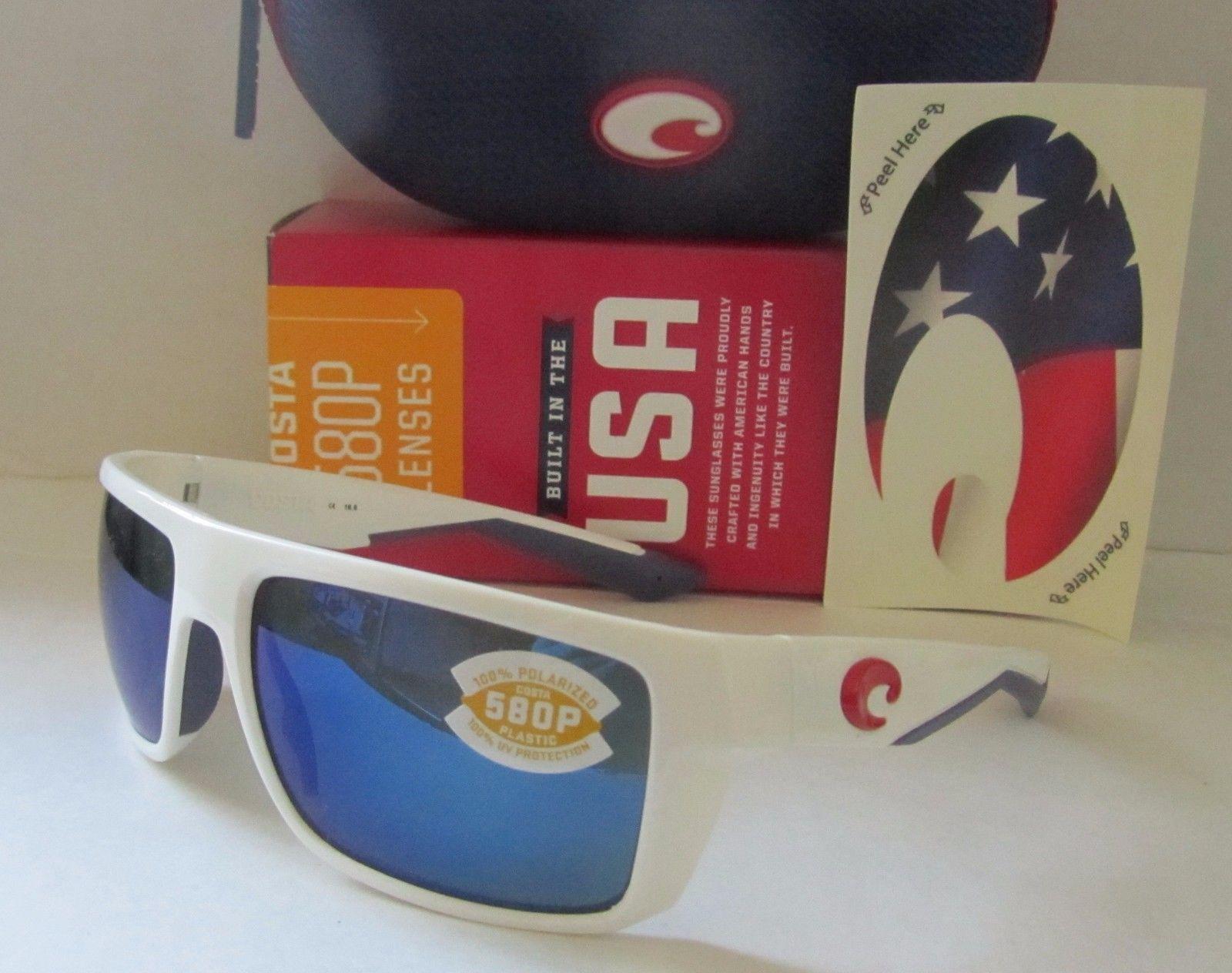 9f59c6e29ecb COSTA DEL MAR white/blue MOTU POLARIZED 580P LIMITED EDITION USA sunglasses  NEW!