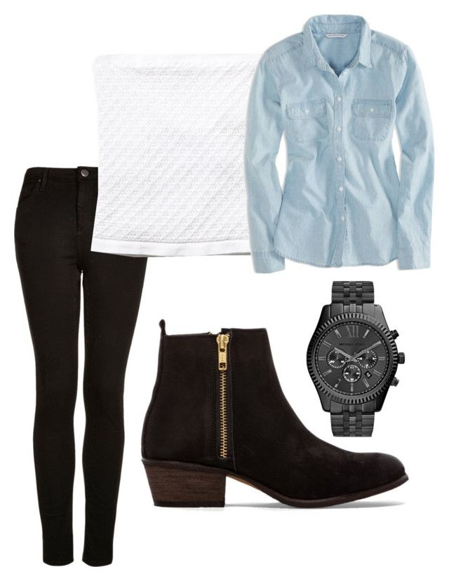"""""""Week 1: Saturday (Bonfire)"""" by camp-outfits ❤ liked on Polyvore featuring Topshop, Free People, American Eagle Outfitters, Steve Madden and MICHAEL Michael Kors"""