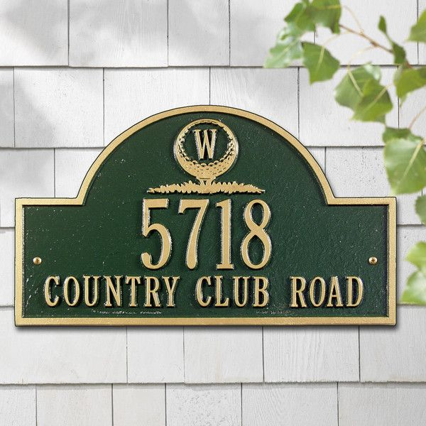 Personalized Golf Emblem Outdoor Plaque 890 Ars Liked On Polyvore Featuring Home