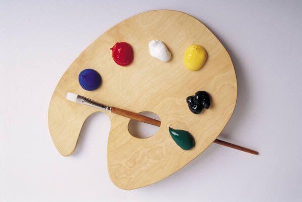 real paint pallet. wooden paint palette real pallet p