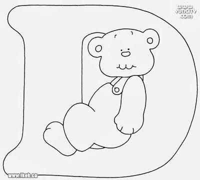 Alfabeto Com Ursinhos Para Pintar Alfabeto Para Colorir Clipart