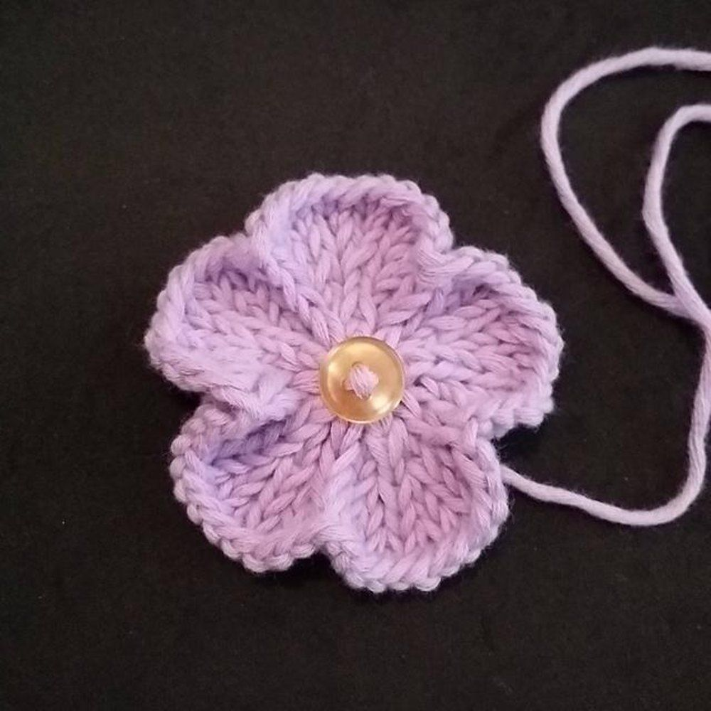 Basic Knitted Flower Free Knitting Patterns Knitted