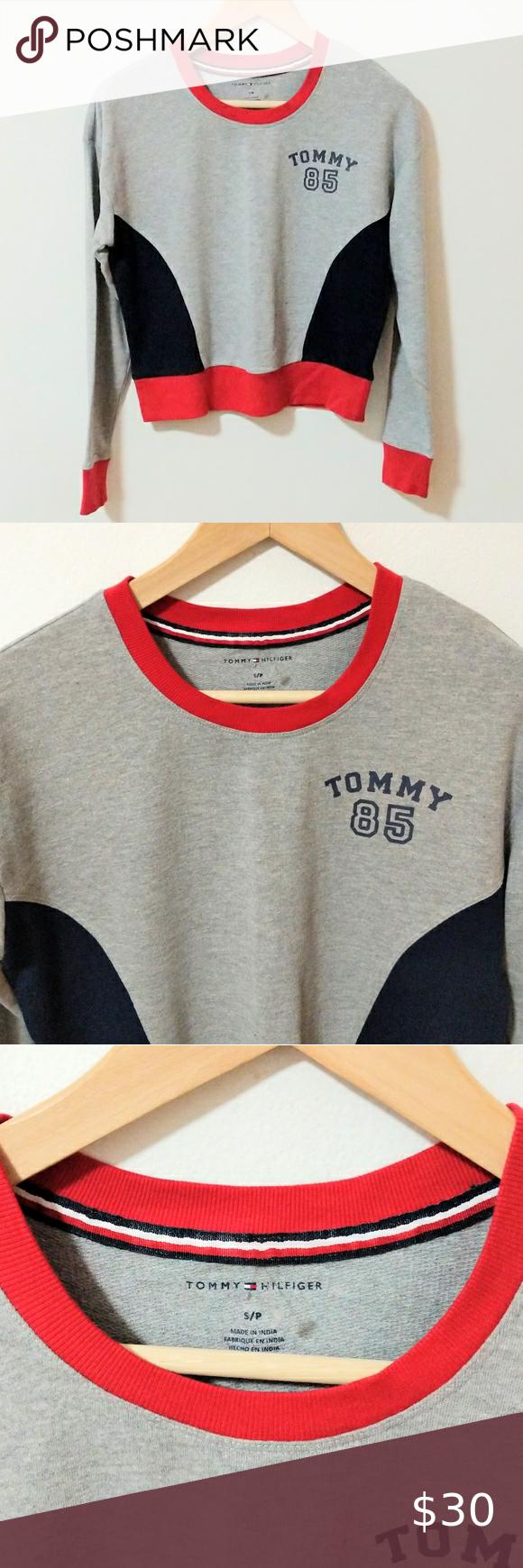 Tommy Hilfiger Sweatshirt Cropped Crewneck Logo Tommy Hilfiger Cropped Crewneck Pullover Sweatshirt Good P Sweatshirts Tommy Hilfiger Sweatshirt Tommy Hilfiger [ 1740 x 580 Pixel ]