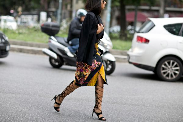 See All the Milan Fashion Week Street Style Fall 2015   StyleCaster