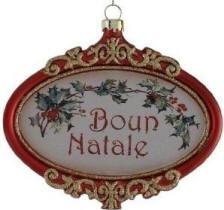 Buon Natale Ornament.Italian Christmas Decorations Buon Natale Ornament Christmas