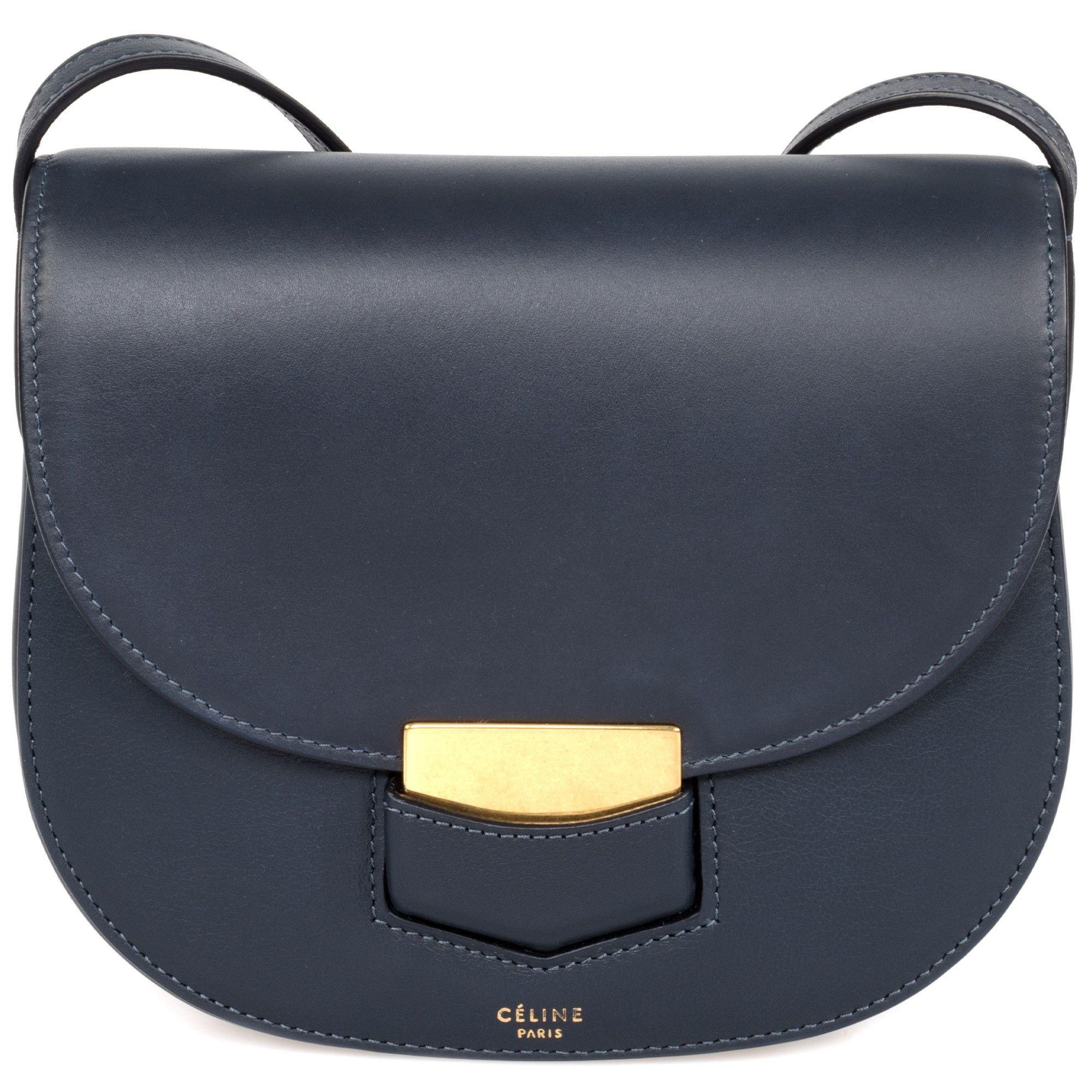 d94421d2c1 Celine Trotteur Calfskin Crossbody Handbag
