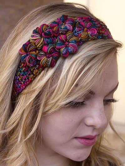 Free Crochet Pattern Download This Thai Garden Headband Designed