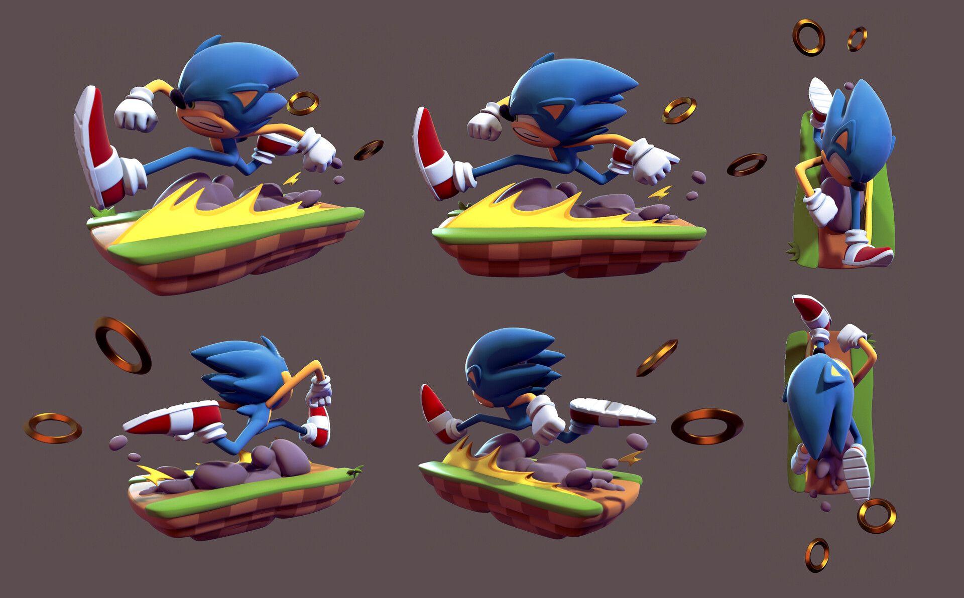 Artstation Sonic The Hedgehog Sam Beattie Sonic Art Sonic Artwork