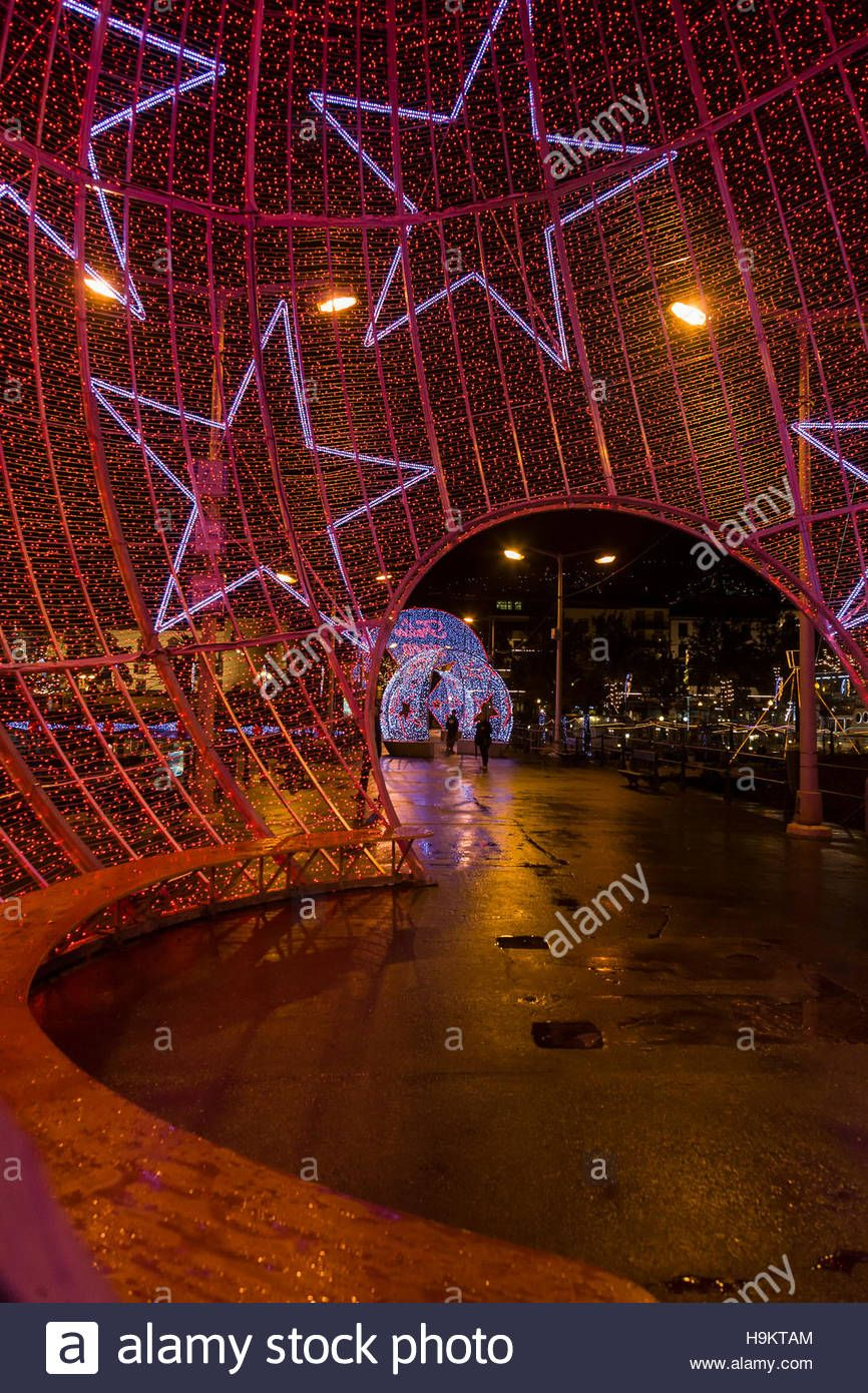 Download this stock image: Christmas Lights in Funchal, Madeira - H9KTAM from Alamy's library of millions of high resolution stock photos, illustrations and vectors.