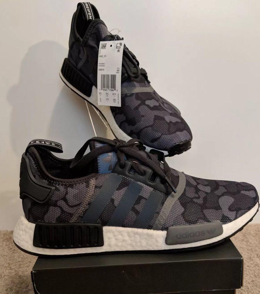 Adidas NMD R1 Winter Wool: Core Black, Men's Fashion