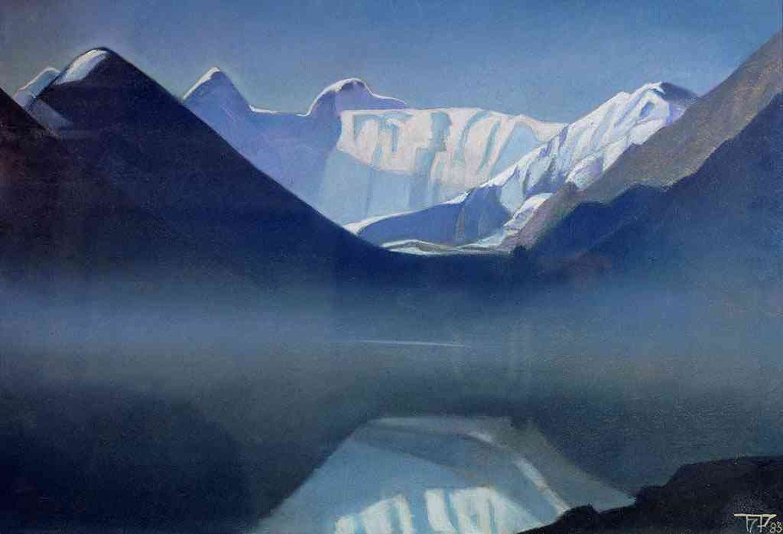 Борис Смирнов-Русецкий.   Белуха. Туман.   Boris Smirnov-Rusetsky.   White mountain. A fog.