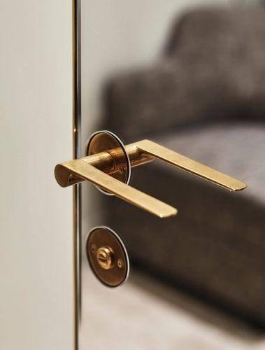 Mirror Door Brass Handle Parisian Full Height Door Handle Doors
