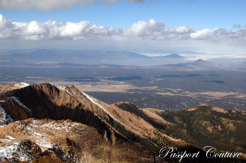 The View From Top Of Pikes Peak In Colorado Springs
