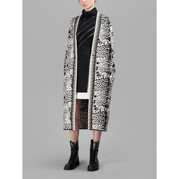 Fausto Puglisi Coats ($1,395) via Polyvore featuring outerwear, coats, blackwhite, fausto puglisi and black and white coat