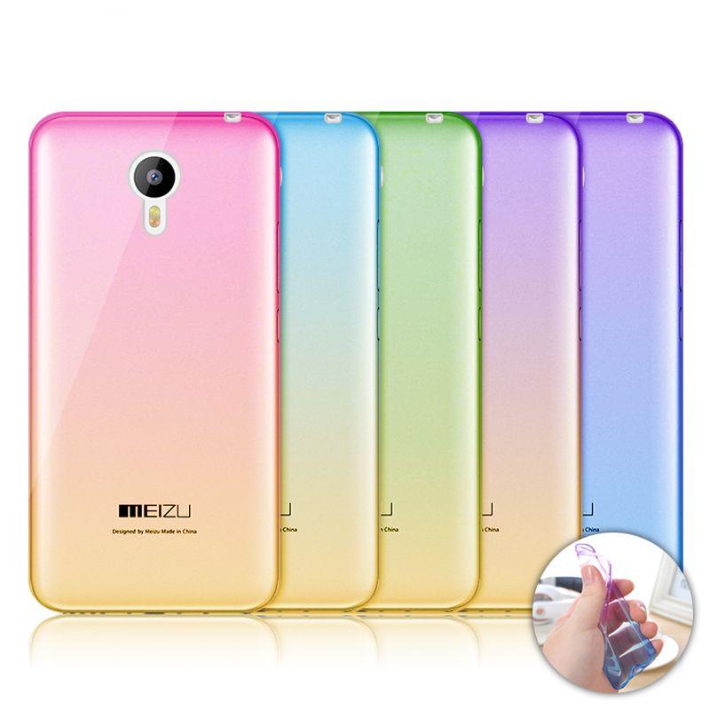 대한 meizu m2 note/m3 note 새로운 그라데이션 색 소프트 tpu 케이스 대한 meizu m3 m2 m3s 미니 mx5 울트라 얇은 0.3 미리메터 전화 케이스 커버