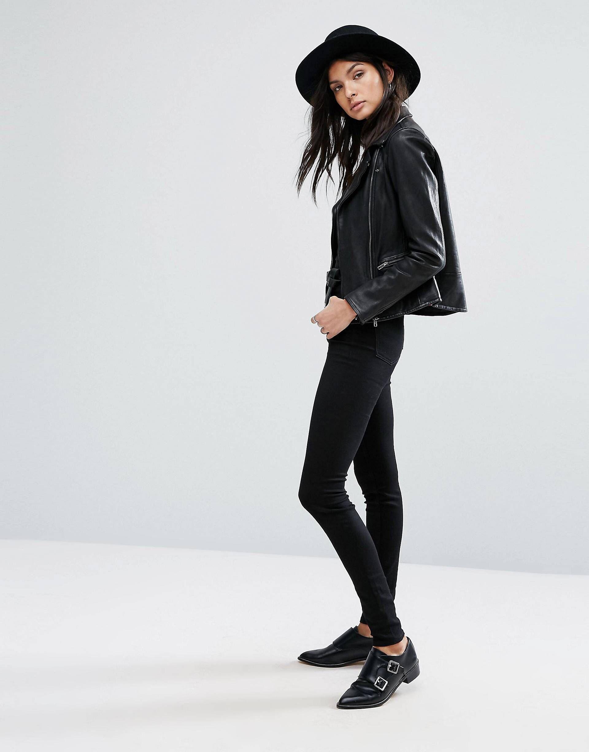 LOVE this from ASOS! Leather biker jacket, Biker jacket