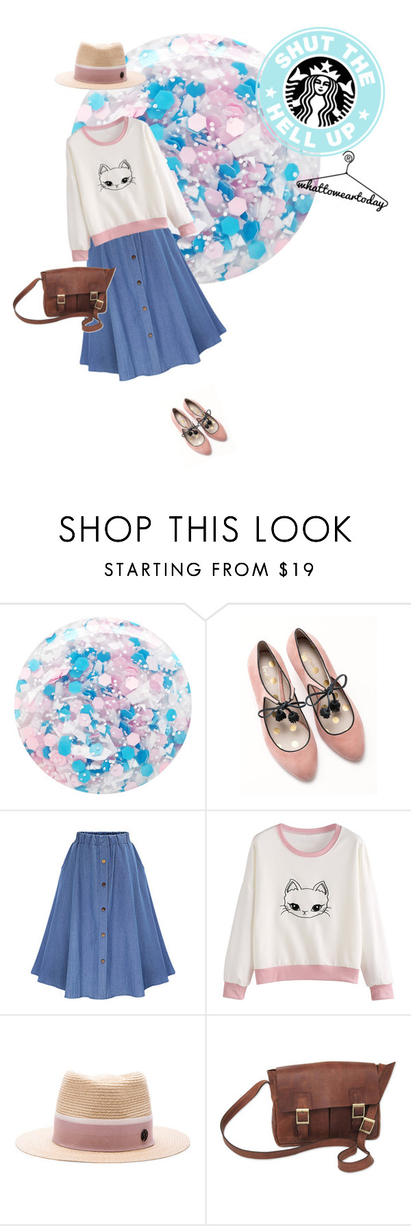 """""""better late than..."""" by ghmahi ❤ liked on Polyvore featuring Nails Inc., Boden, Maison Michel and NOVICA"""